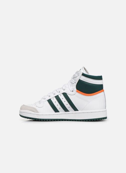 Sneakers adidas originals Top Ten Hi J Wit voorkant
