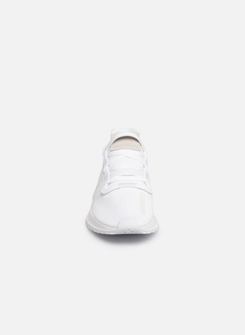 Baskets adidas originals U_Path Run J Blanc vue portées chaussures
