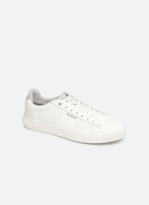 Baskets Jack & Jones Jfw Olly Fusion Leather Blanc vue détail/paire