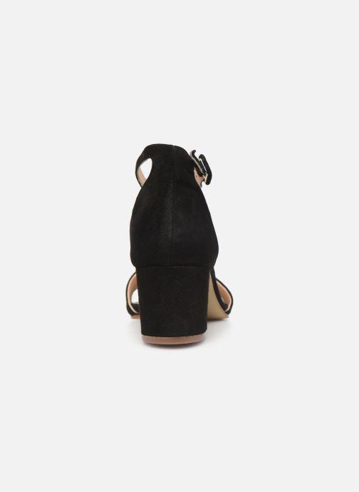Sandales et nu-pieds Georgia Rose Liesan Noir vue droite