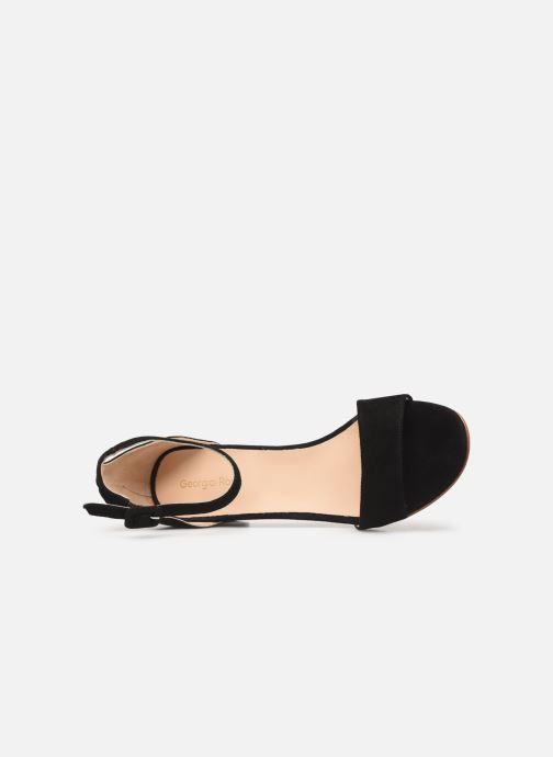 Sandales et nu-pieds Georgia Rose Liesan Noir vue gauche