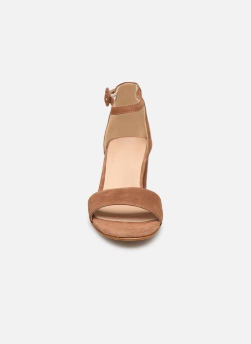 Sandales et nu-pieds Georgia Rose Liesan Marron vue portées chaussures