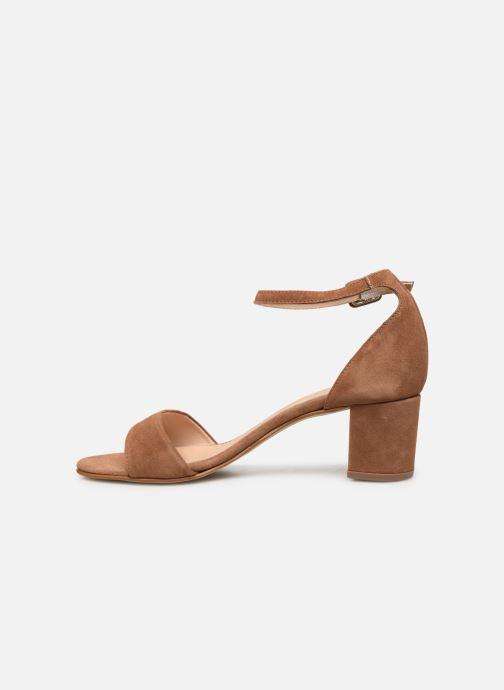 Sandales et nu-pieds Georgia Rose Liesan Marron vue face