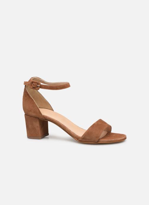 Sandales et nu-pieds Georgia Rose Liesan Marron vue derrière