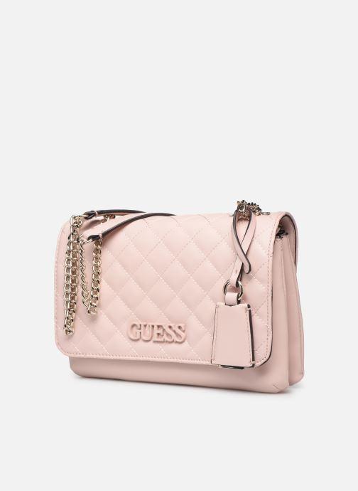 Bolsos de mano Guess ELLIANA CNVRTBLE XBODY FLAP Rosa vista del modelo