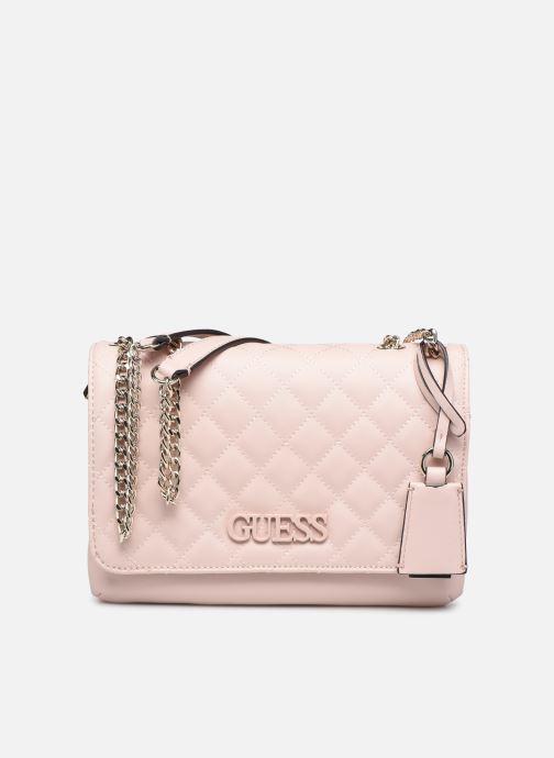 Bolsos de mano Guess ELLIANA CNVRTBLE XBODY FLAP Rosa vista de detalle / par