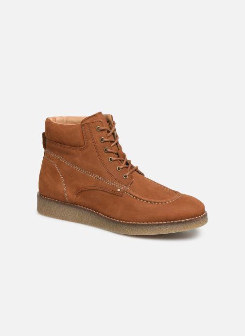Boots en enkellaarsjes Kickers Zalpille Bruin detail
