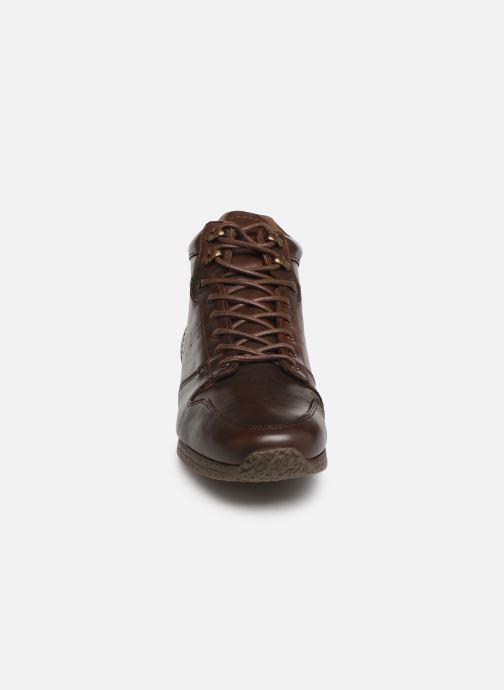 Baskets Kickers Olivero Marron vue portées chaussures