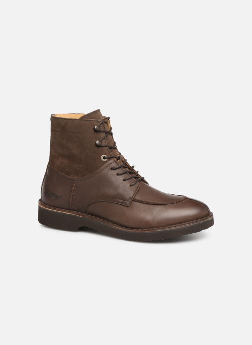 Bottines et boots Kickers Transit H Marron vue détail/paire