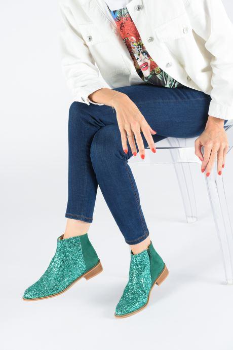 Bottines et boots Made by SARENZA Made By Sarenza X Modetrotter Boots Vert vue bas / vue portée sac