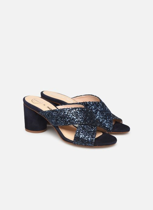 Wedges Made by SARENZA Made By Sarenza X Modetrotter Mule Blauw achterkant