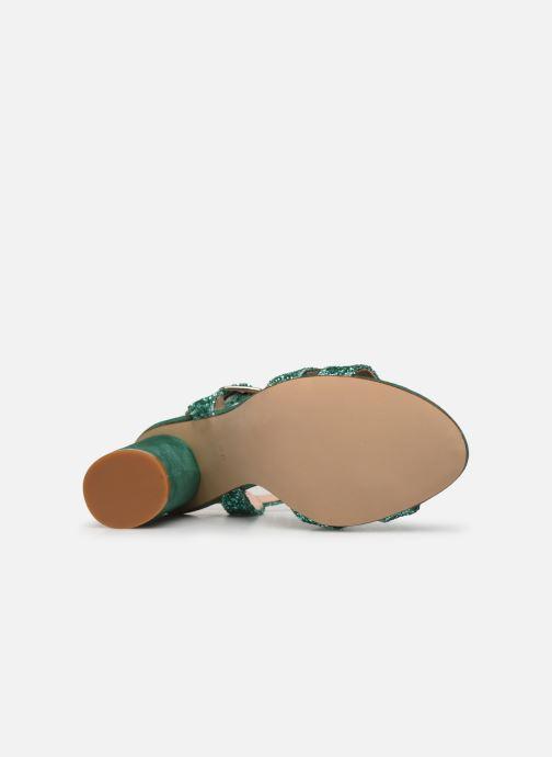 Sandales et nu-pieds Made by SARENZA Made By Sarenza X Modetrotter Sandales à Talons Vert vue haut