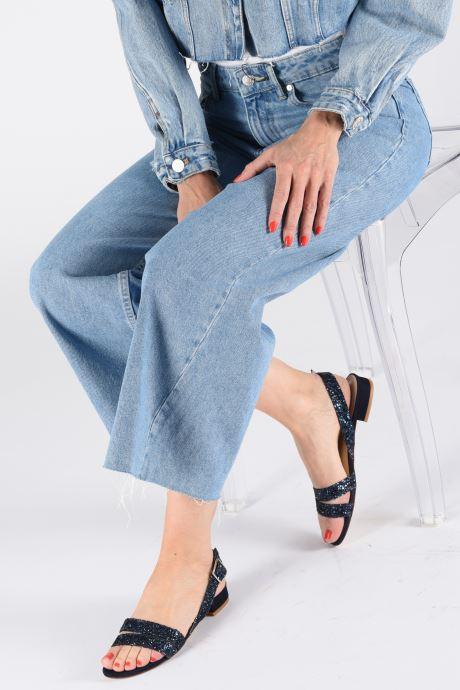 Sandales et nu-pieds Made by SARENZA Made By Sarenza X Modetrotter Sandales Plates Bleu vue bas / vue portée sac