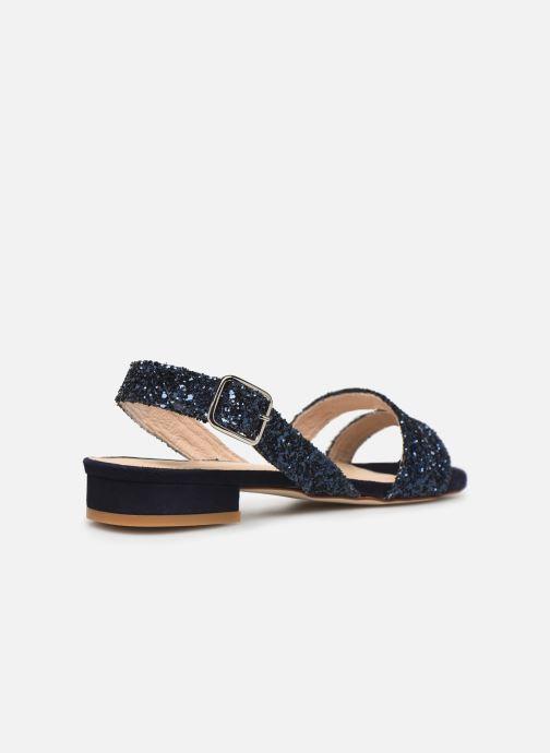 Sandales et nu-pieds Made by SARENZA Made By Sarenza X Modetrotter Sandales Plates Bleu vue face