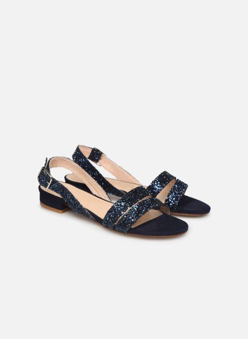 Sandales et nu-pieds Made by SARENZA Made By Sarenza X Modetrotter Sandales Plates Bleu vue derrière