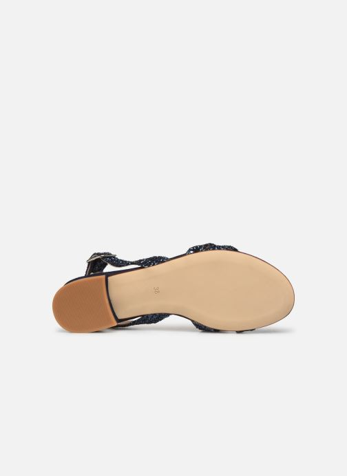 Sandales et nu-pieds Made by SARENZA Made By Sarenza X Modetrotter Sandales Plates Bleu vue haut