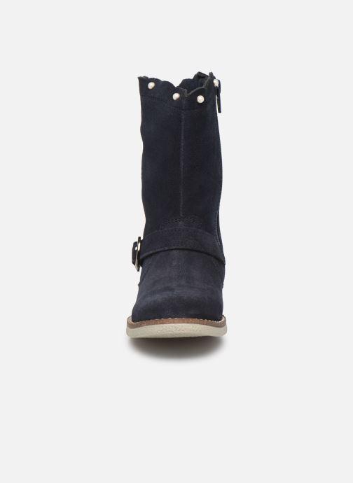 Bottes MTNG 47832 Bleu vue portées chaussures