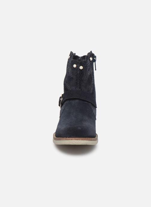 Bottes MTNG 47833 Bleu vue portées chaussures