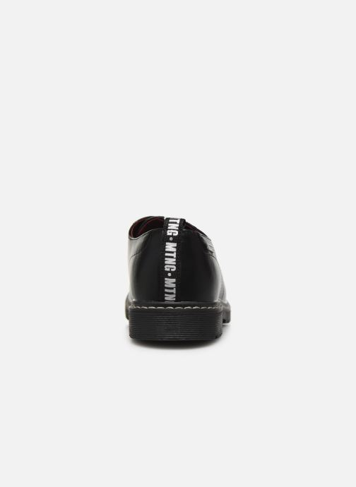 Chaussures à lacets MTNG 47854 Noir vue droite