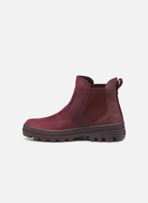 Ankle boots Palladium Pallabosse Chelsea Sd Burgundy front view