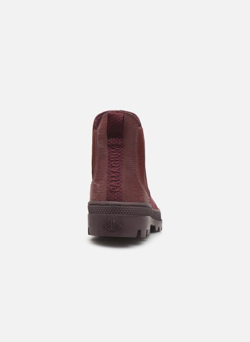 Ankle boots Palladium Pallabosse Chelsea Sd Burgundy view from the right