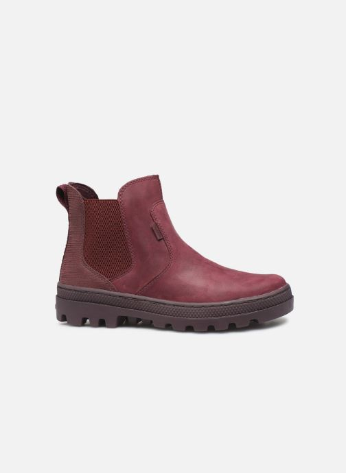 Ankle boots Palladium Pallabosse Chelsea Sd Burgundy back view