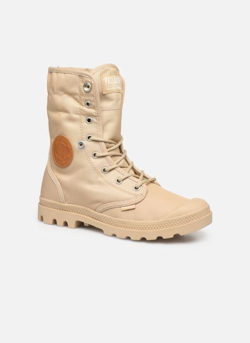 Bottines et boots Palladium Baggy Wtx W Beige vue 3/4