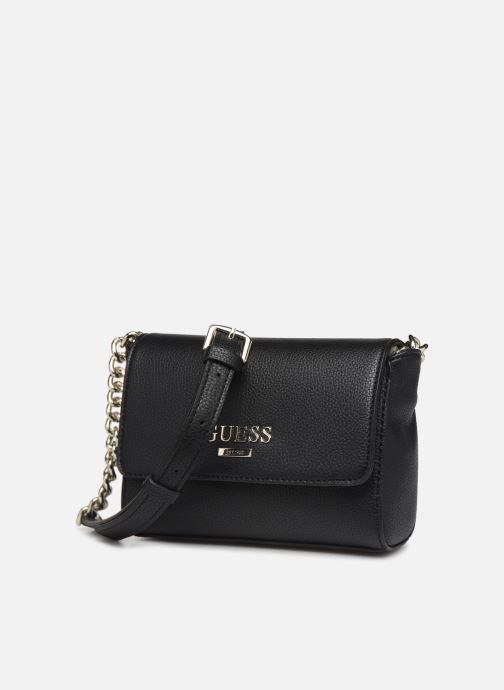 Handtassen Guess ALMA MINI CROSSBODY FLAP Zwart model