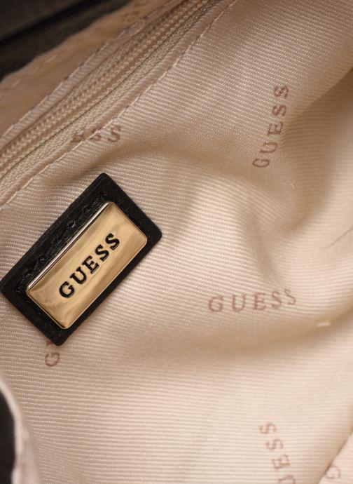 Håndtasker Guess ALMA MINI CROSSBODY FLAP Sort se bagfra