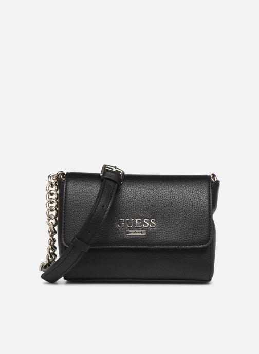 Handtassen Guess ALMA MINI CROSSBODY FLAP Zwart detail