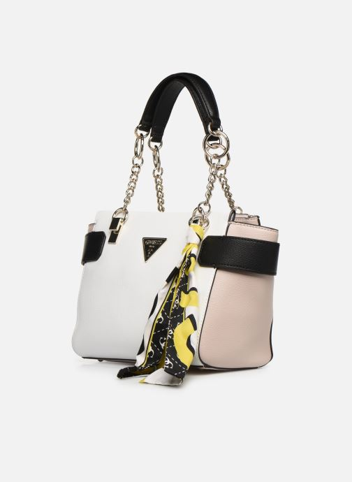 Handbags Guess ANALISE SOCIETY SATCHEL White model view