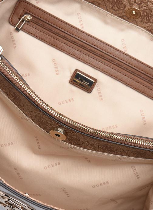 Handtassen Guess BLUEBELLE CARRYALL Bruin achterkant