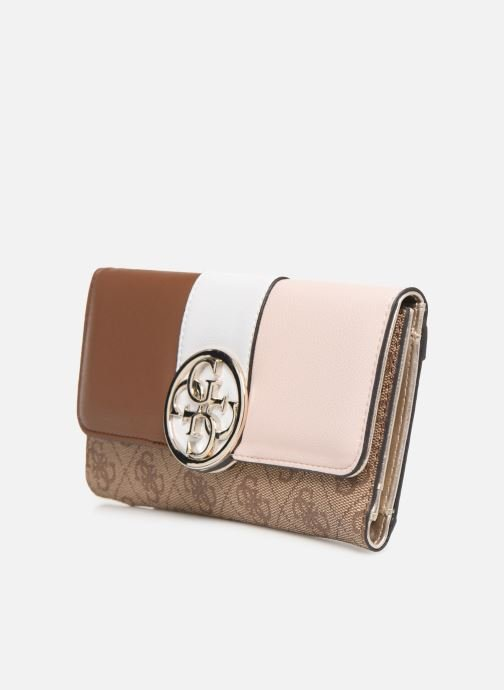 Wallets & cases Guess BLUEBELLE POCKET TRIFOLD Brown model view