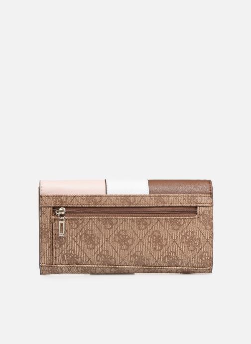 Wallets & cases Guess BLUEBELLE POCKET TRIFOLD Brown front view