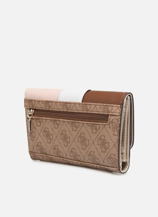 Wallets & cases Guess BLUEBELLE POCKET TRIFOLD Brown view from the right