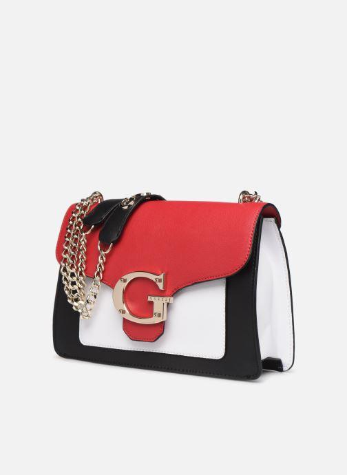 Bolsos de mano Guess CAMILA CONVERTIBLE CROSSBODY FLAP Rojo vista del modelo