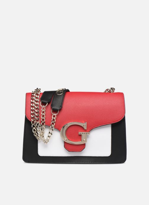 Handbags Guess CAMILA CONVERTIBLE CROSSBODY FLAP Red detailed view/ Pair view