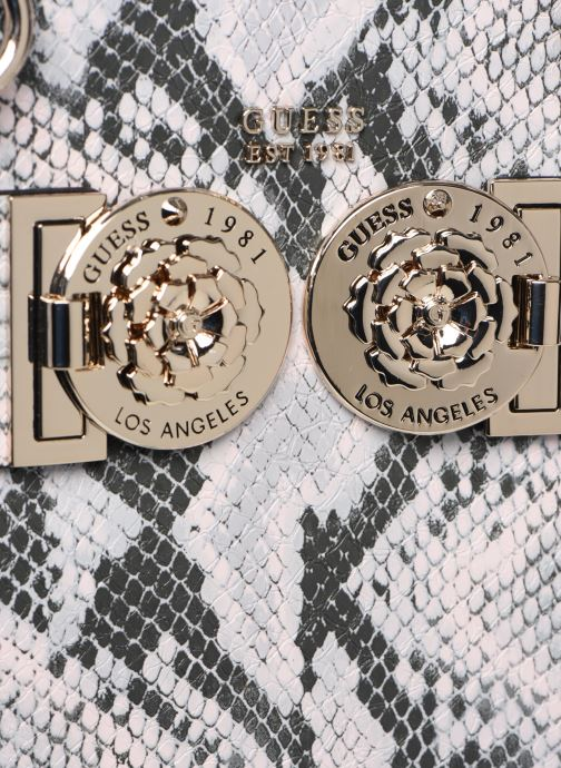 Bolsos de mano Guess CARINA SOCIETY SACTHEL Rosa vista lateral izquierda