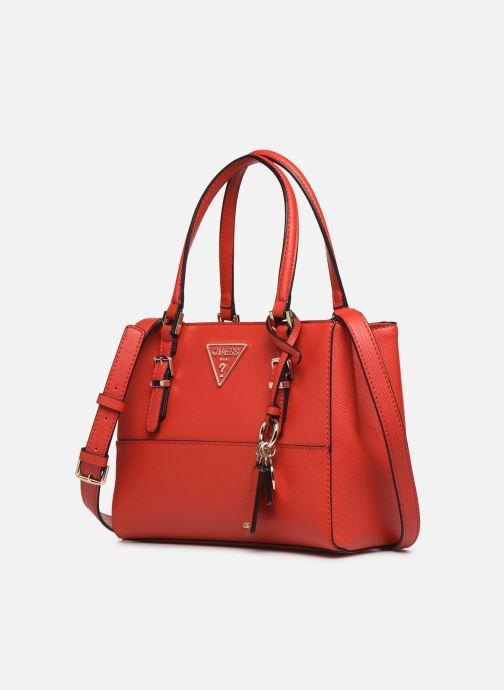 Bolsos de mano Guess CARYS SATCHEL Rojo vista del modelo