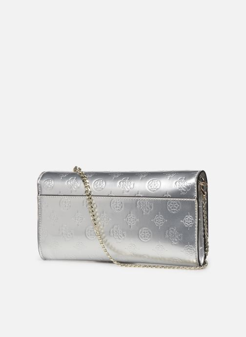 Bolsos de mano Guess HIGHLIGHT CLUTCH Plateado vista lateral derecha