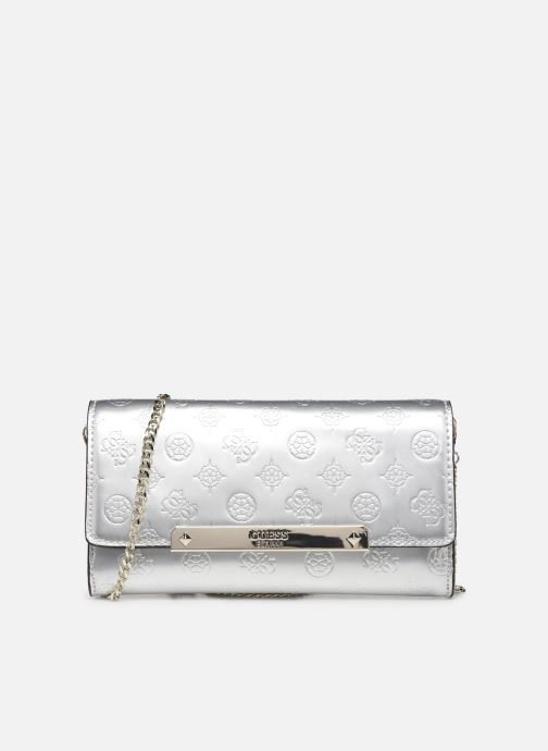 Bolsos de mano Guess HIGHLIGHT CLUTCH Plateado vista de detalle / par