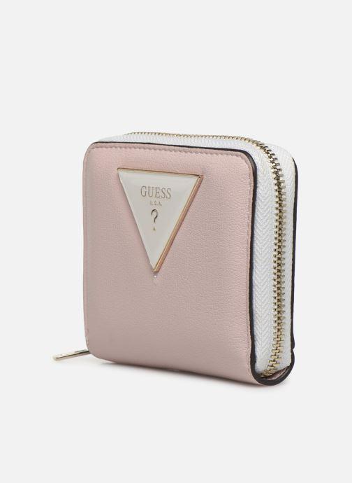Portemonnaies & Clutches Guess KAMRYN SMALL ZIP AROUND rosa schuhe getragen