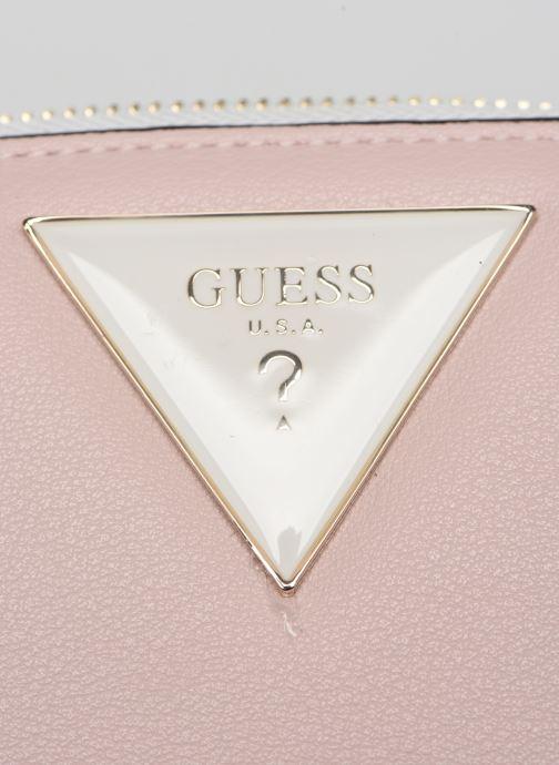 Portemonnaies & Clutches Guess KAMRYN SMALL ZIP AROUND rosa ansicht von links