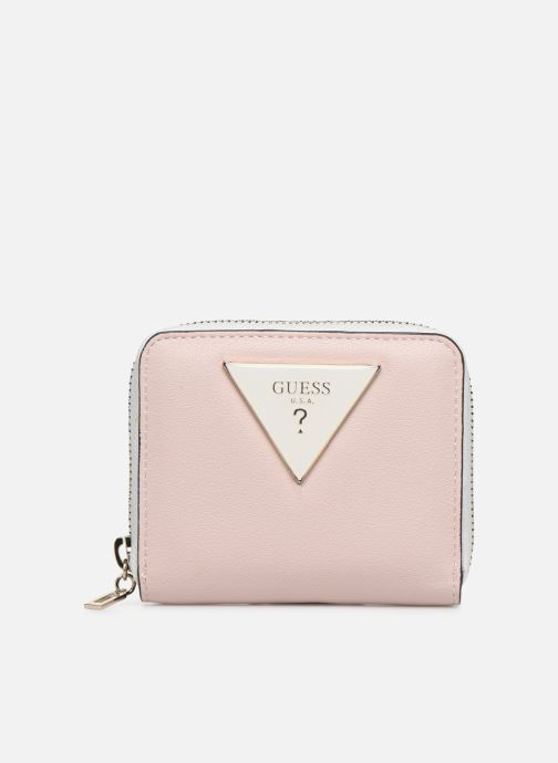Petite Maroquinerie Guess KAMRYN SMALL ZIP AROUND Rose vue détail/paire