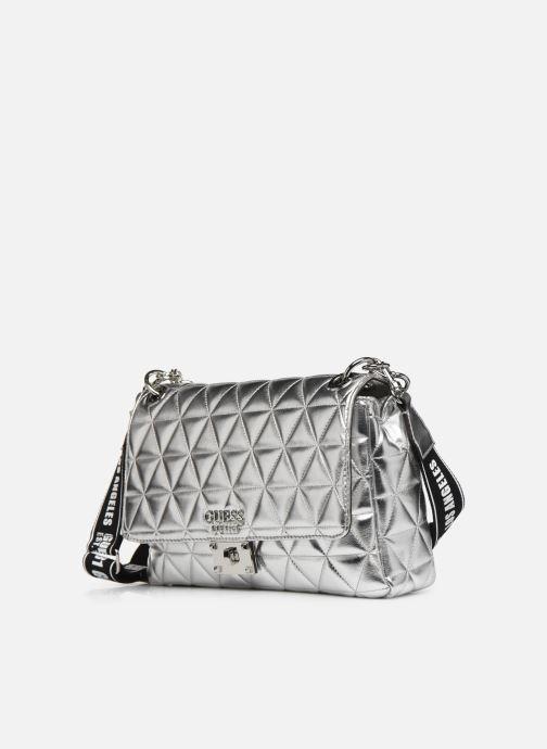 Bolsos de mano Guess LAIKEN SHOULDER BAG Plateado vista del modelo