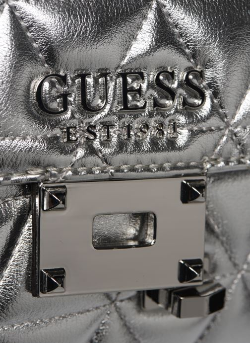 Bolsos de mano Guess LAIKEN SHOULDER BAG Plateado vista lateral izquierda