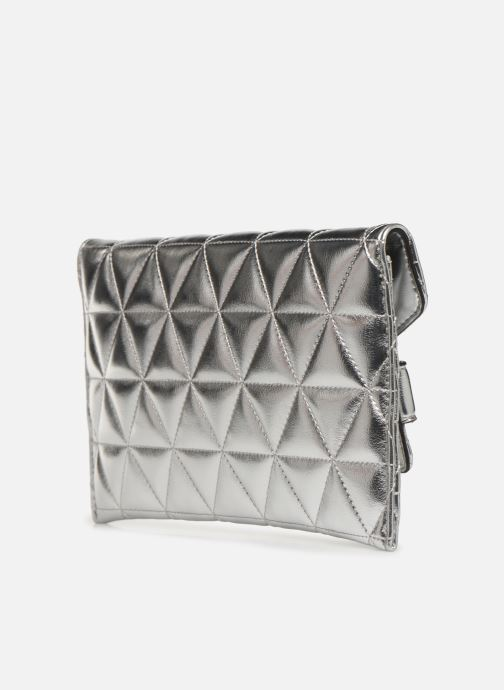Clutch bags Guess LAIKEN MINI CROSSBODY CLUTCH Silver view from the right