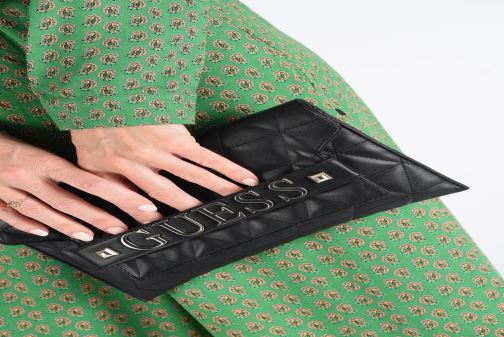 Clutch bags Guess LAIKEN MINI CROSSBODY CLUTCH Black view from underneath / model view