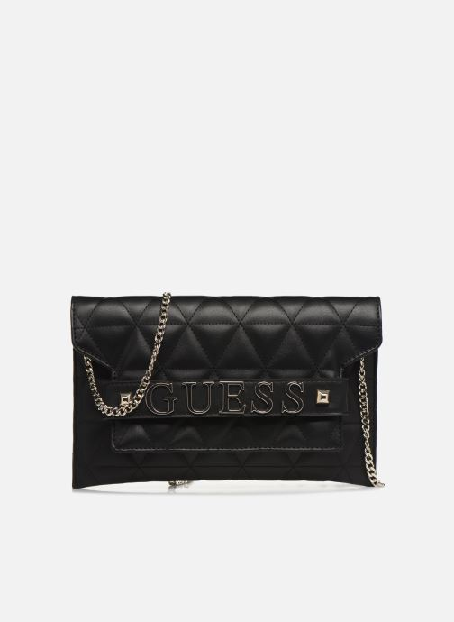 Bolsos Clutch Guess LAIKEN MINI CROSSBODY CLUTCH Negro vista de detalle / par