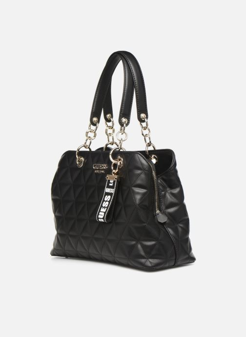 Bolsos de mano Guess LAIKEN GIRLFRIEND SATCHEL Negro vista del modelo